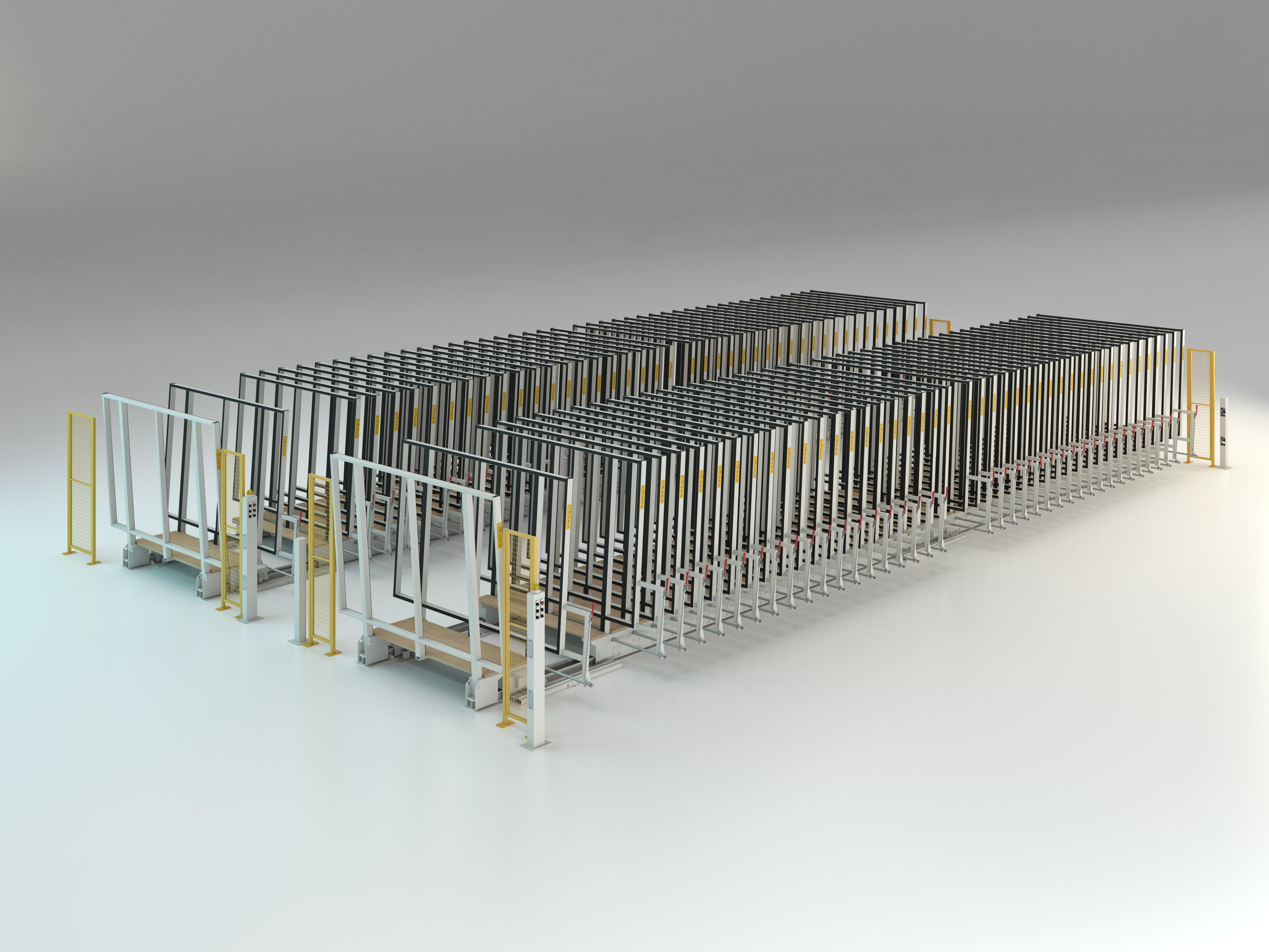 Semi-automatic racking system double parallel Mod. MVLM/1084