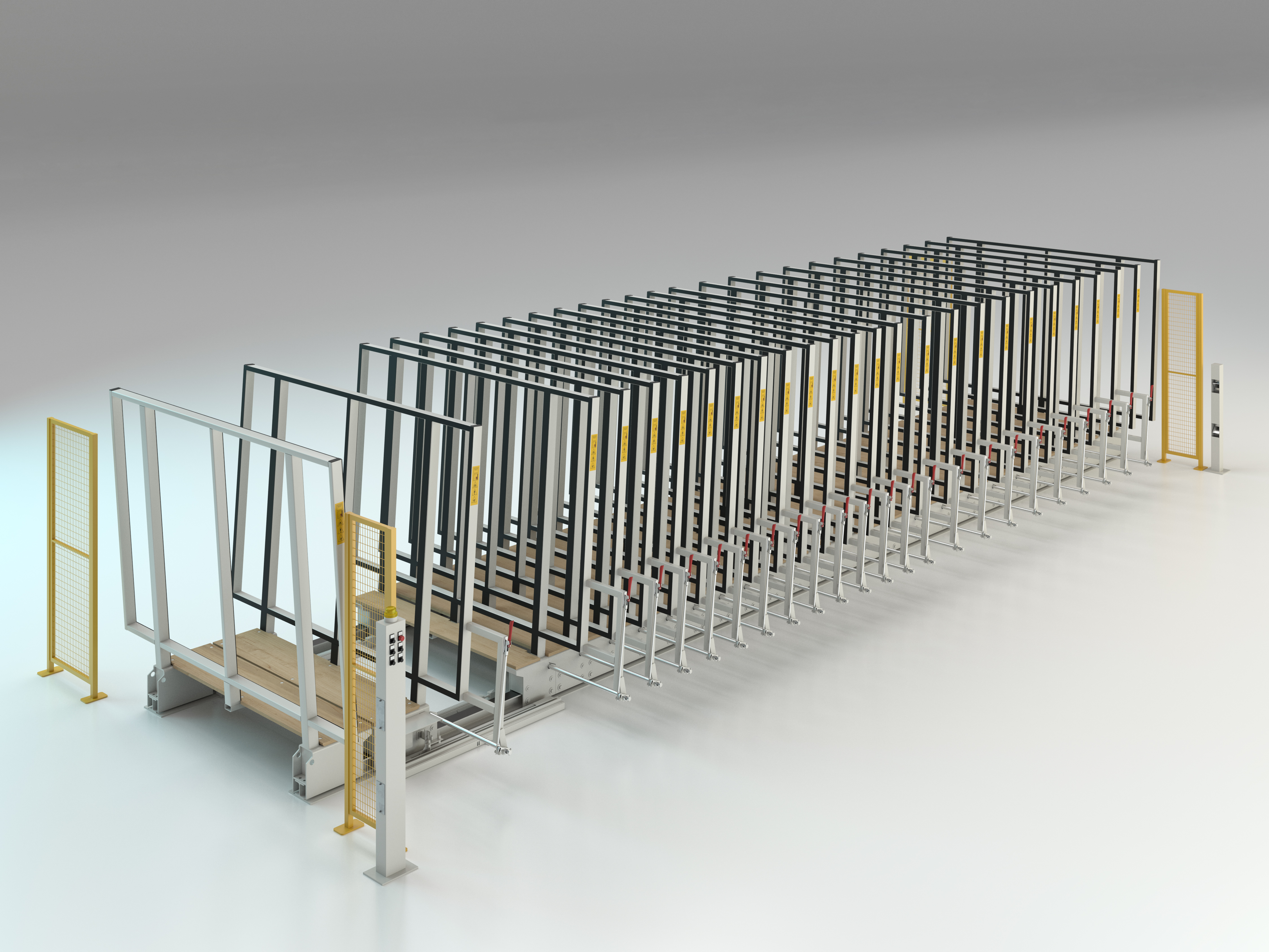 Semi-automatic racking system single Mod. MVLM/403