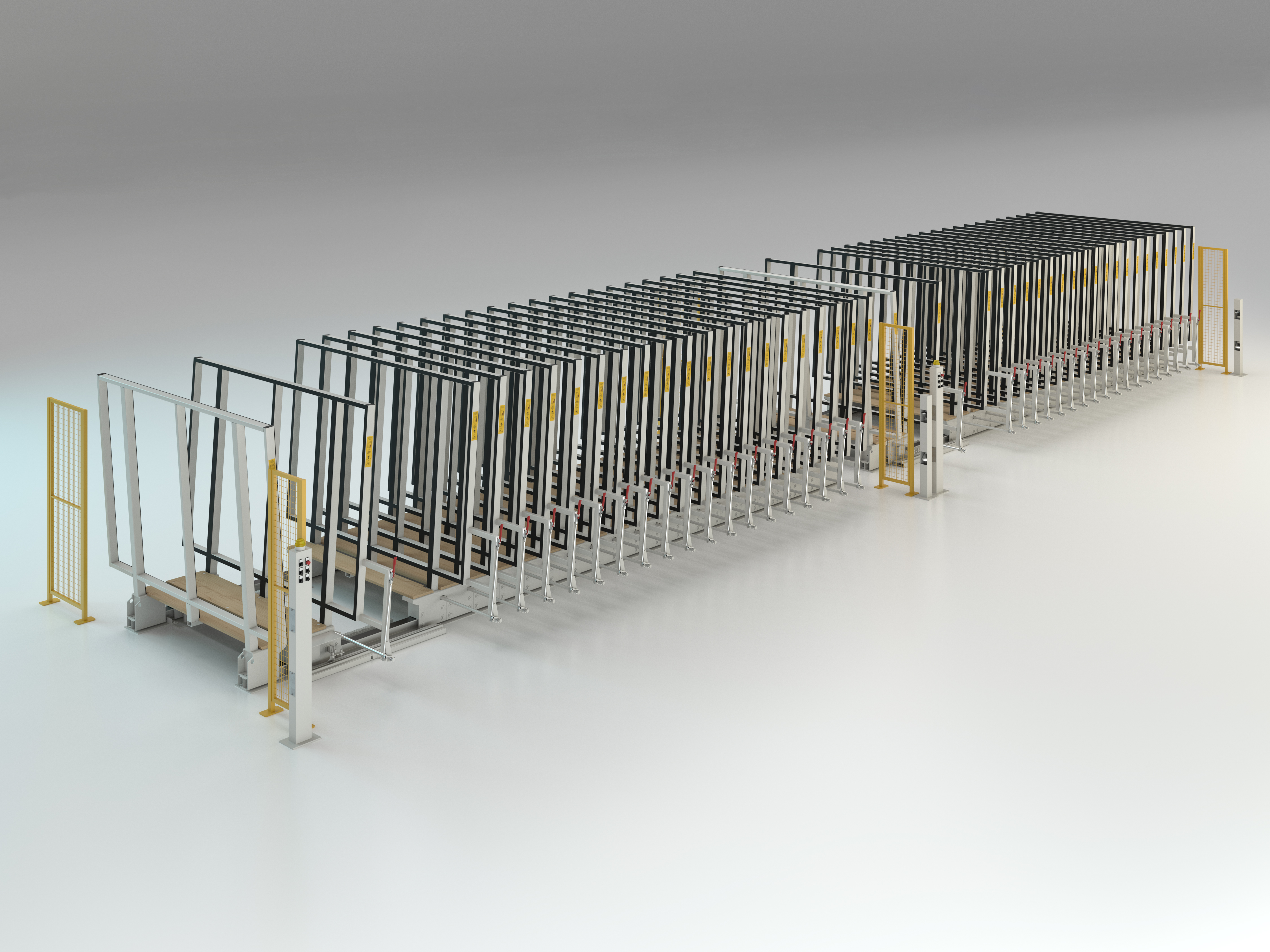 Semi-automatic racking system double Mod. MVLM/542