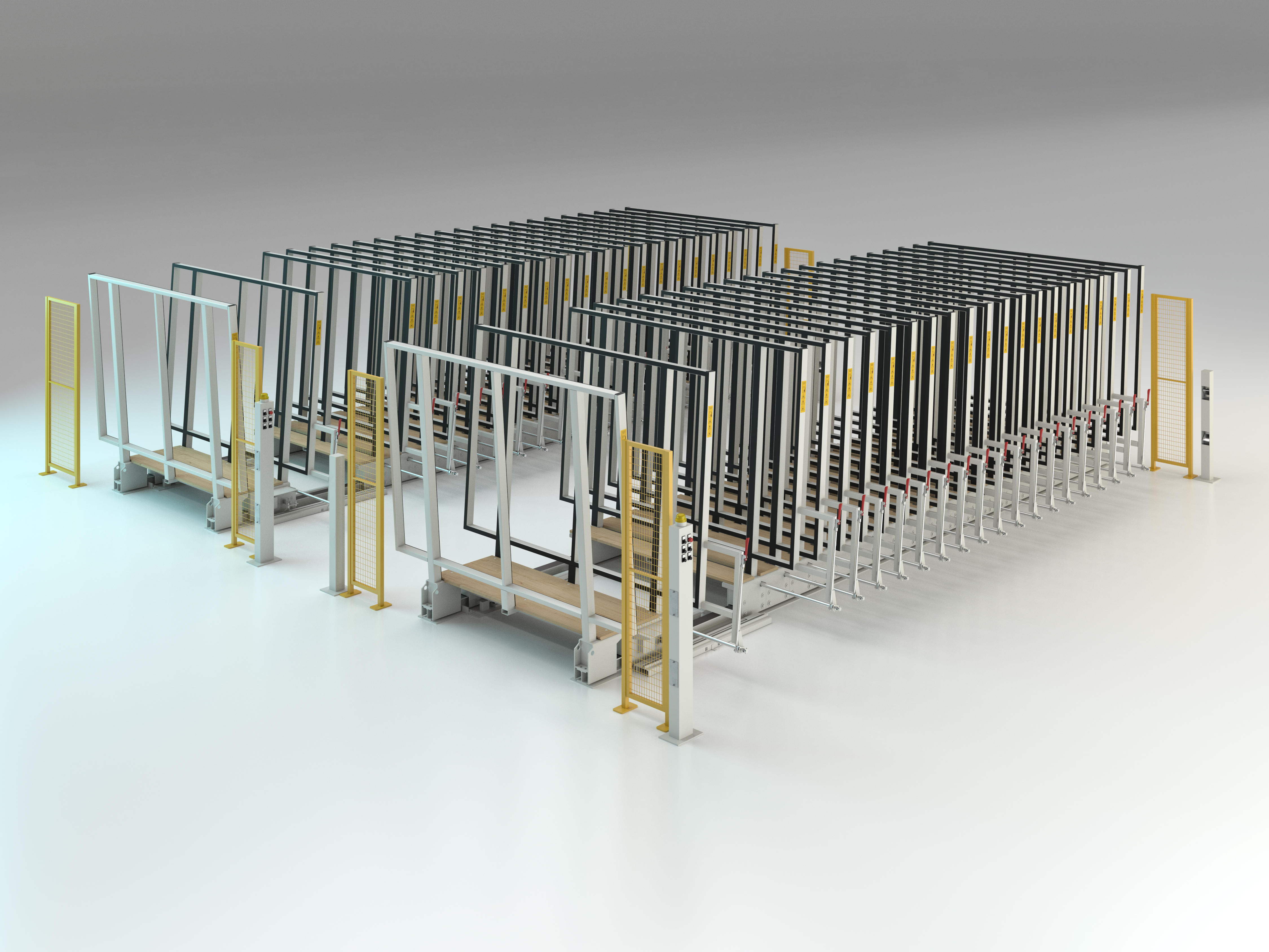 Semi-automatic racking system double parallel Mod. MVLM/542